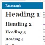 headings from wordpress menu