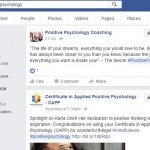 positive psychology hashtags page
