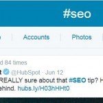 Twitter #seo example